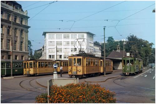 Basel trams at Aeschenplatz (pjs,0958)