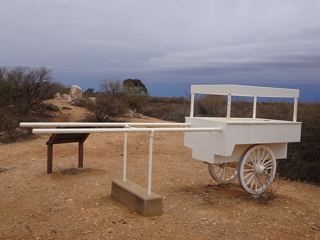 Broken Hill. Replica of the ice cream cart used by Pakistani cameleers Gool Mahomed and Mulla Abdulla. They attacked and killed picnickers 1 Jan 1915. They were killed here after the killing of several picnickers.