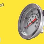 เกจวัดอุณหภูมิเกลียวหลังช่วง50-350 °C สำหรับนึ่ง อบ วัดค่าแม่นยำ