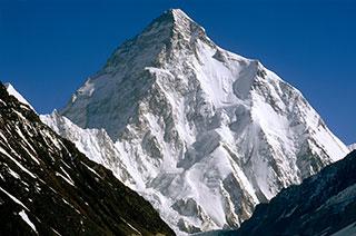 K2, zweithöchster Berg der Erde