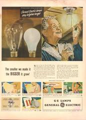 1948 General Electric Lamp - Bulb Advertisement Life Magazine April 19 1948