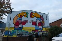Street Art by Noir, Wallis Road, Hackney Wick