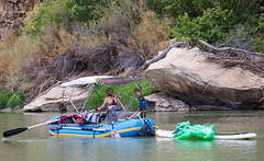 Rafting through the Green River within Utah's Desolation Canyon Area in style
