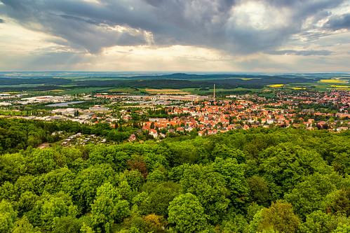 Blick auf Blankenburg am Harz vom Ziegenkopf