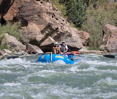 BLM park rangers white water raft down the Green River in Utah's Desolation Canyon Area