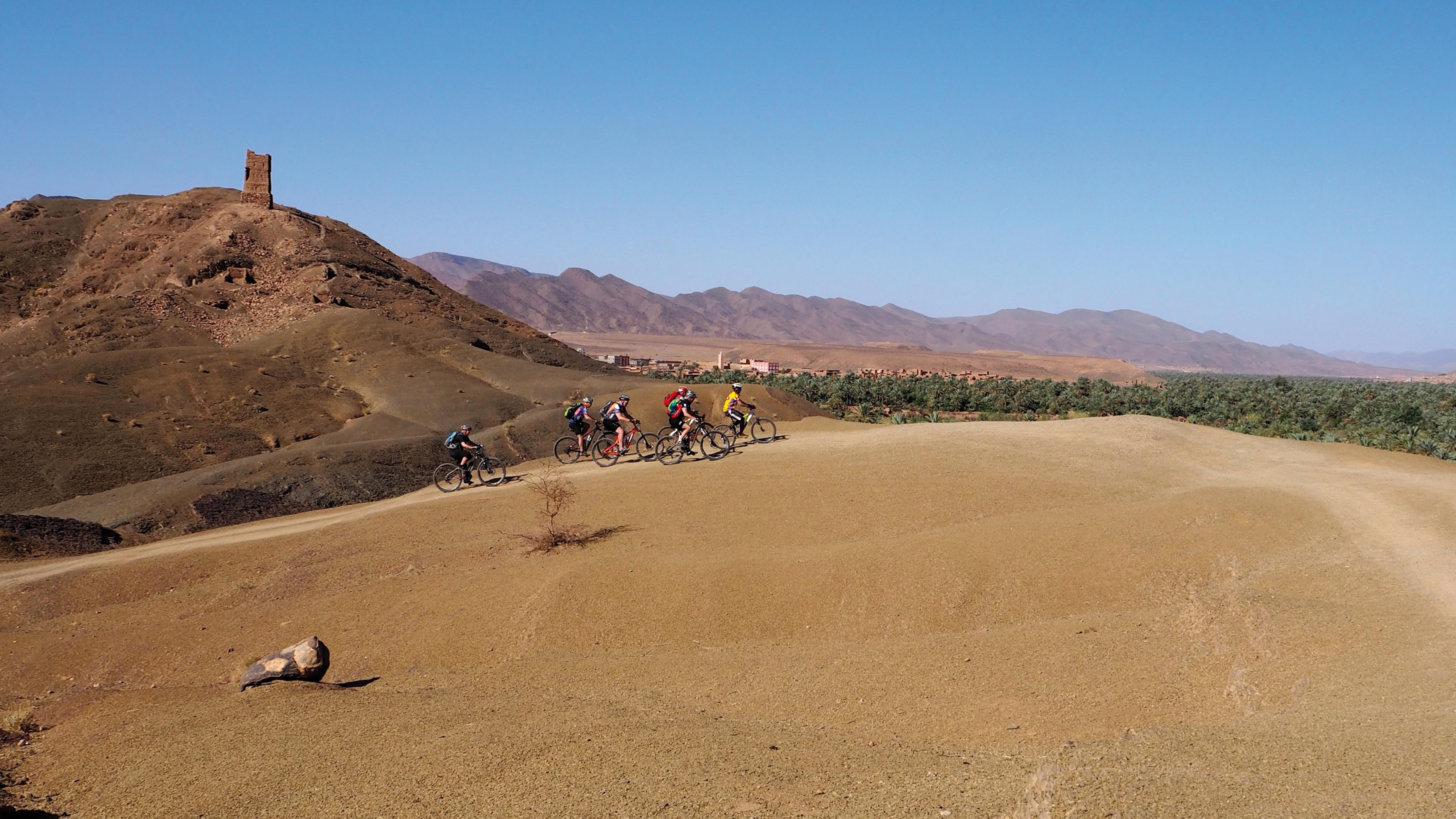 Bikergruppe in Marokko