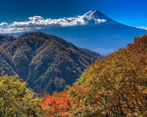 Autumn Fuji view at Misaka pass