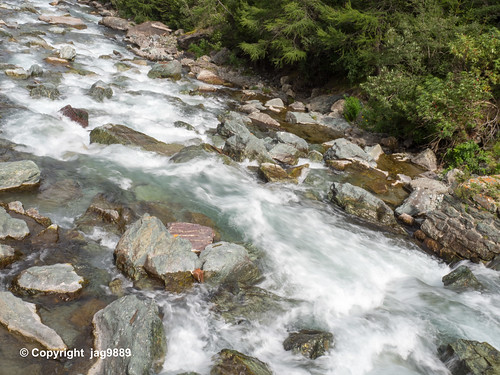 The Gelgia River, Bivio, Canton of Grisons, Switzerland