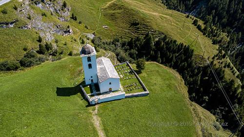 Schweiz, Graubünden, Avers-Cresta (KIrche Avers Cresta)