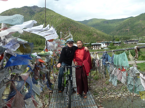 Klaus Wanger auf Hängebrücke