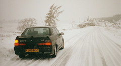 Renault 19 in a Scottish winter