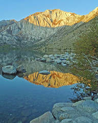 Mt Morrison Sunrise, Convict Lake, Sierra Nevada 10-19