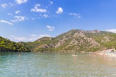 Swimming in the Blue Lagoon in Ölüdeniz, Turkey
