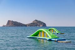 Wibit HighRoller slide in the Aegean Sea of Sarigerme, Turkey