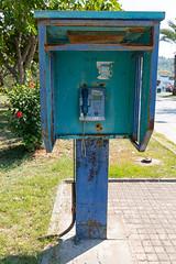 Old street phone in Göcek, Turkey