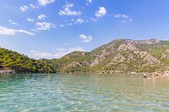 Schwimmbereich der Blauen Lagune in Ölüdeniz, Türkei