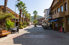 Shopping street in Göcek, Turkey