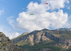 Paragliding from Babadag Mountain over the Blue Lagoon in Ölüdeniz, Turkey