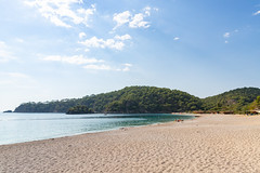 West end of Ölüdeniz Beach, Turkey