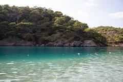 Swimming area in the Blue Lagoon in Ölüdeniz, Turkey