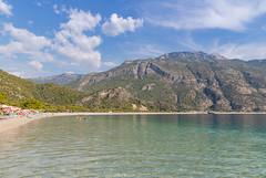 Ölüdeniz Beach in Turkey, a view from the sea