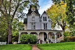 Brockville Ontario - Canada - 112 King Street East - Alexander Allan House  -  1880 Victorian Villa Architecture -