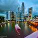 Waiting for blue hour, Boat Quay Singapore