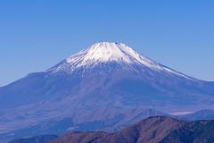 三ノ塔から富士山を望む
