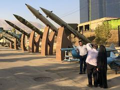 Iran, Tehran - Posing in front of missiles - October 2019