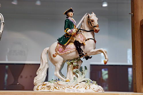 Fine Meissen porcelain soldier/ general figurine on horseback