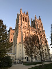 National Cathedral west front, November evening, Washington, D.C.
