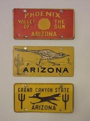 Vintage Arizona booster plates