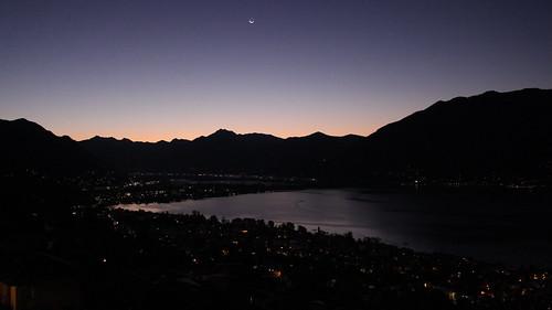 Sonnenaufgang über dem Lago Maggiore