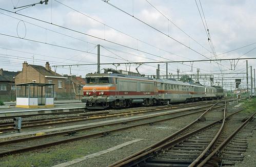 BB 10003 + test train + HLE 2760, Enghien, 15/05/1991