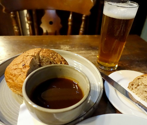 Artisan Granary Bread with Beef Dripping Gravy and a pint of Punk IPA