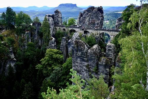 Bastei / Elbsandsteingebirge / Sächsische Schweiz / Sachsen (Saxony)