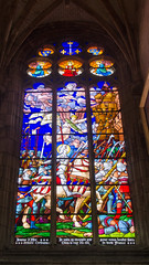 Vitrail comtemporain de Jeanne d'arc - Auxerre