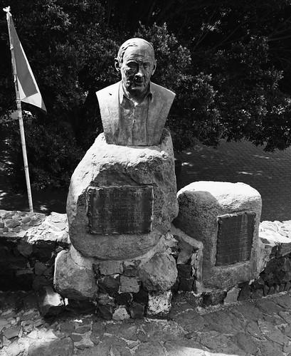 Bronze statue of Jose Perez Gonzales