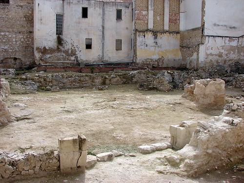 Patio del castillo de Doña Mencía