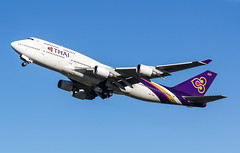 EGLL - Boeing 747-4D7 - Thai Airways International - HS-TGA