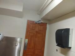 men's restroom door