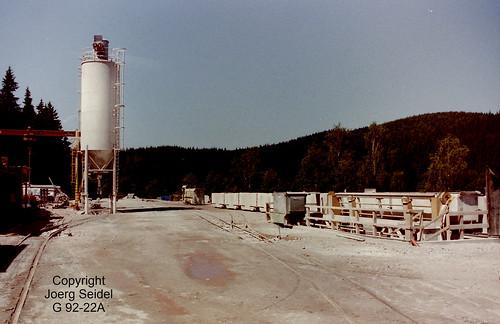 DE-08304 Schönheide Abwasserüberleitungsstollen Schönheide 750 mm Gleisförderanlage im Juni 1998