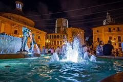 Plaza de la Virgen by night