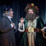 Larry Cahn (Ebenezer Scrooge) and Zayaz Da Camara (Ghost of Christmas Present) - Matt Gale Photography 2019