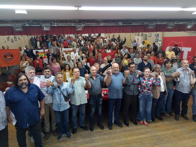Representantes de centrais sindicais, partidos políticos e movimentos populares participaram do Encontro Emprego e Desenvolvimento - Créditos: Foto: Marcos Hermanson/Brasil de Fato