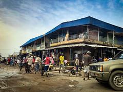 Côte d'Ivoire, Abidjan - Wheelbarrows in Adjamé district - March 2019
