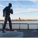 Statue of Captain Frederic John Walker CB, DSO and Three Bars watching over the waterfront.