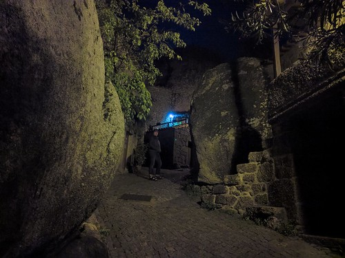 An evening stroll through the tiny boulder-strewn town of Monsanto