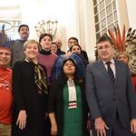 Delegació brasilera amb  Sonia Guajajara