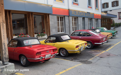 Classic Fiat Sports Cars, Tiefencastel, Canton of Grisons, Switzerland
